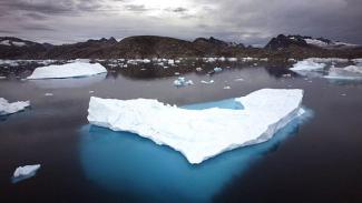 Ilustrasi bongkahan es.