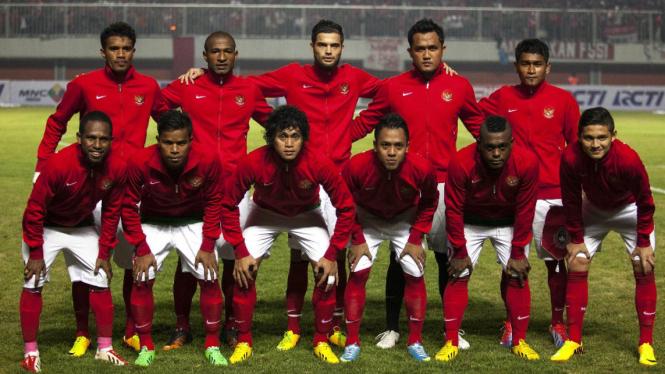Timnas Indonesia U-23 saat melawan Brunei Darussalam