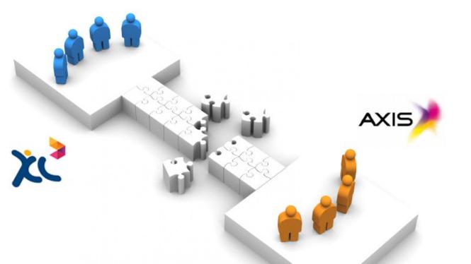 Ilustrasi merger XL Axiata dan Axis