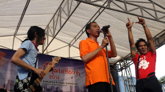 Aksi Jakarta Bersih Jokowi dan Slank