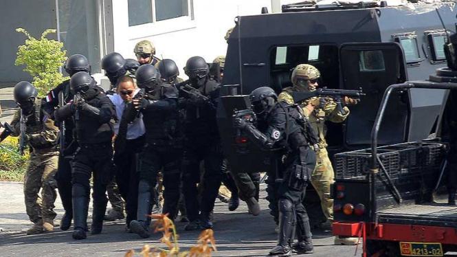 Ilustrasi/Latihan Penanggulangan Terorisme Gabungan 18 Negara