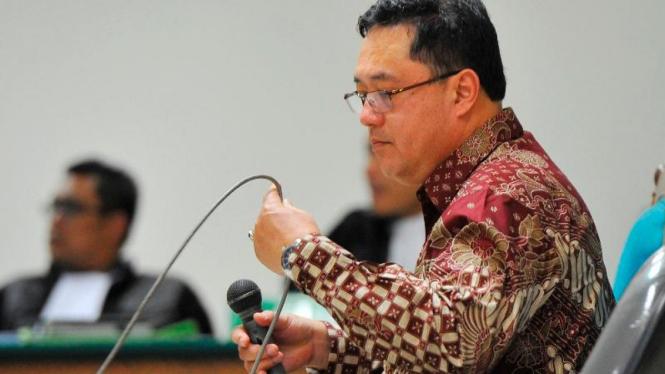 Mantan Direktur PT Citra Mandiri Metalindo Abadi, Budi Susanto, terpidana kasus korupsi pengadaan simulator SIM.