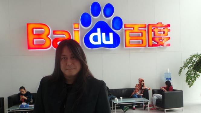 Kantor pusat Baidu di Beijing, China.