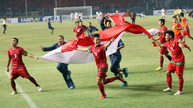 Euforia Kemenangan Timnas Indonesia U-19