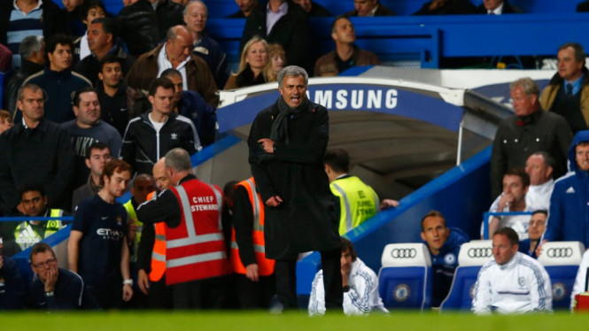 Jose Mourinho ketika Chelsea Vs Manchester City