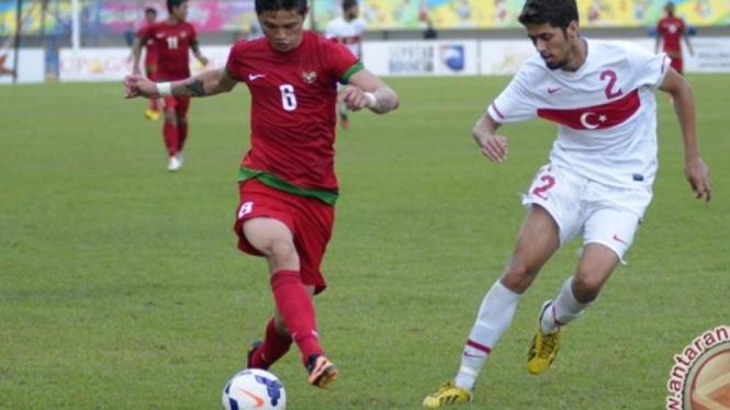 Pemain Timnas U-23, Syamsir Alam, di Islamic Solidarity Games
