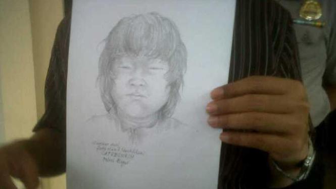 Sketsa wajah mayat korban pembunuhan di Bogor