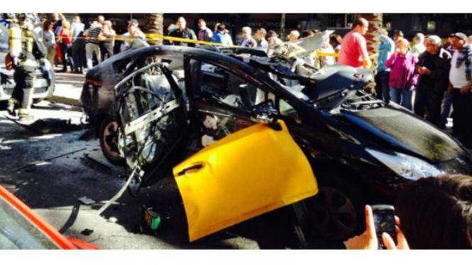 Taksi Prius meledak di Barcelona, Spanyol