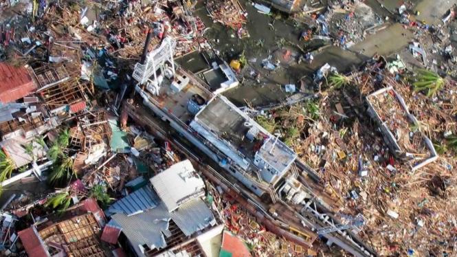 Lokasi amukan Topan Haiyan di Kota Tacloban Filipina