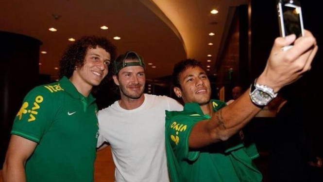 David Luiz, David Beckham, dan Neymar