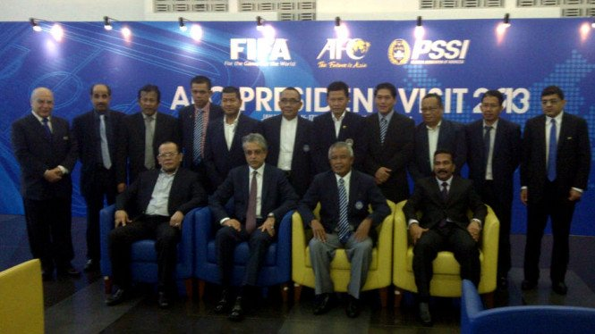 Presiden AFC saat bertemu dengan pengurus PSSI