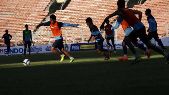 Latihan Timnas U-23 Jelang MNC Cup