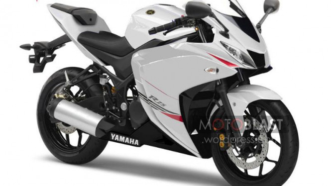 Rendering Yamaha R25 versi produksi