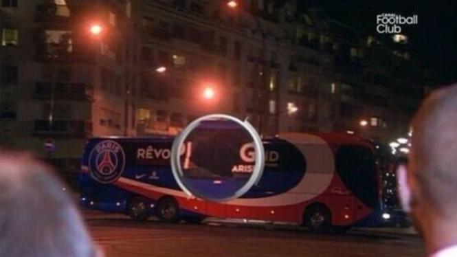 Kaca bus PSG pecah