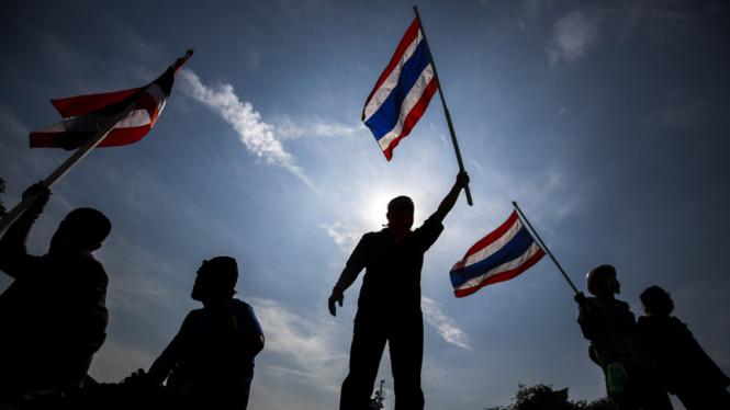 Pengunjuk Rasa Anti Pemerintah Thailand