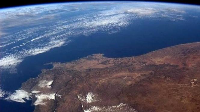 Potret Afrika Selatan dan Atlantik Selatan dari ISS