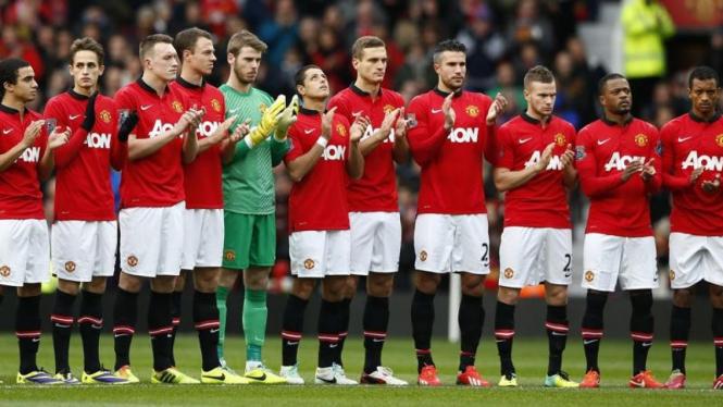 Pemain Manchester United sebelum hadapi Newcastle