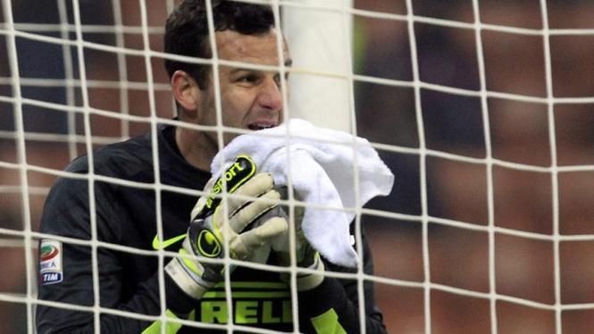 Kiper Inter Milan, Samir Handanovic, usai lakukan blunder