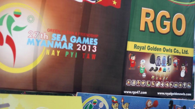 Deretan baliho SEA Games 2013