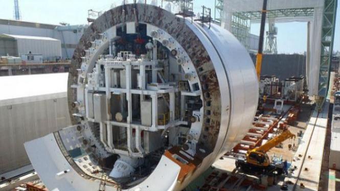 Bertha, mesin pengebor terbesar di dunia.