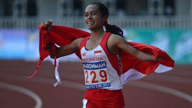 Triyaningsih rebut medali emas 10.000 meter SEA Games 2013