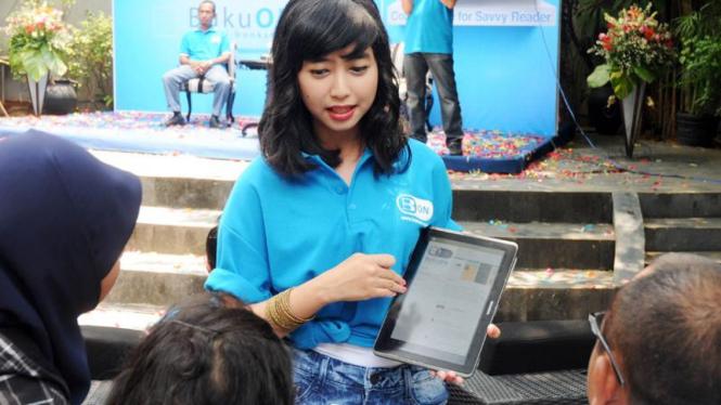 Suasana peluncuran Bukuon di Jakarta