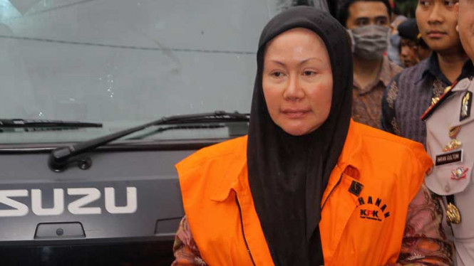 Ratu Atut Chosiyah Ditahan di Rutan Pondok Bambu