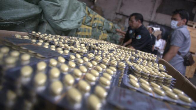 Jutaan Butir Obat Palsu Diamankan Polres Jakarta Utara