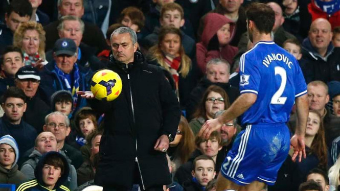 Jose Mourinho saat Arsenal versus Chelsea