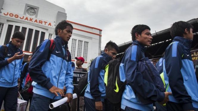 Pemain Timnas Indonesia U-19 di Yogyakarta