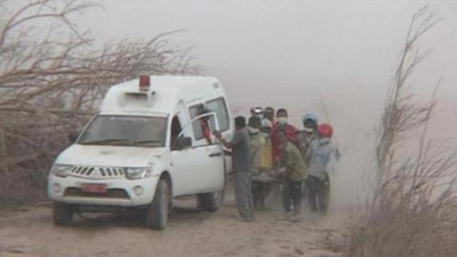 Evakuasi Korban Awan Panas Gunung Sinabung