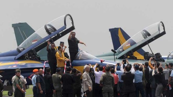 Pesawat Tempur T-50i Golden Eagle di Halim Perdanakusuma
