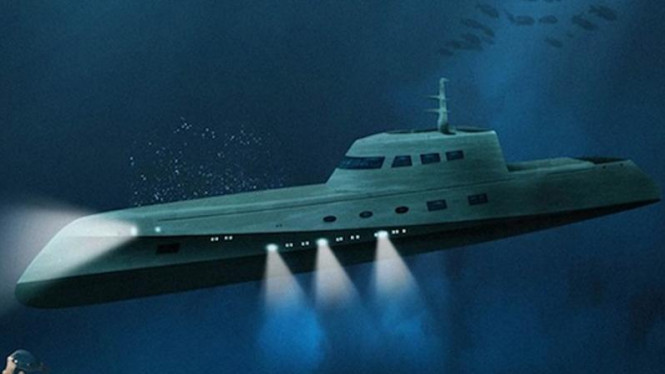 Ilustrasi kapal selam mewah