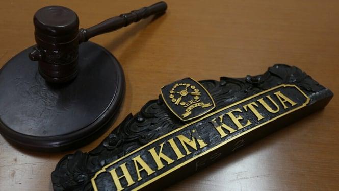 Ilustrasi sidang di pengadilan.