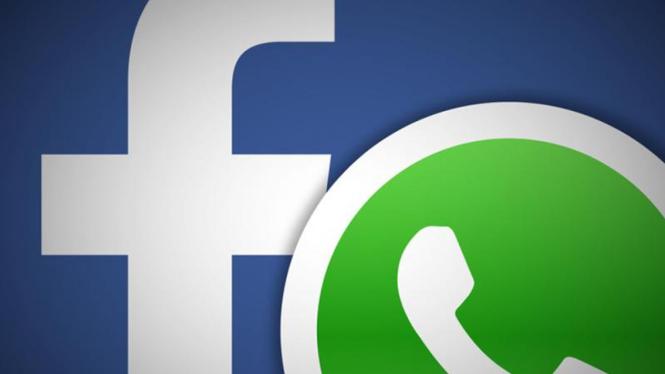 Ilustrasi WhatsApp dan Facebook.