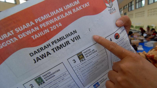 Surat suara Pemilu 2014