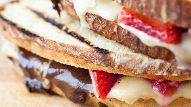 Grilled Cheese and Chocolate Panini