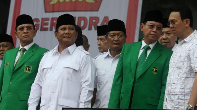 Prabowo Subianto dan Suryadharma Ali di Kampanye Partai Gerindra