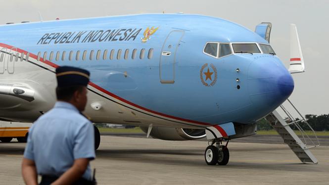 Pesawat Kepresidenan RI di Bandara Halim Perdanakusuma, Jakarta