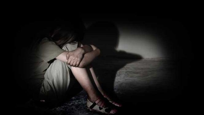 Ilustrasi kekerasan seksual anak.