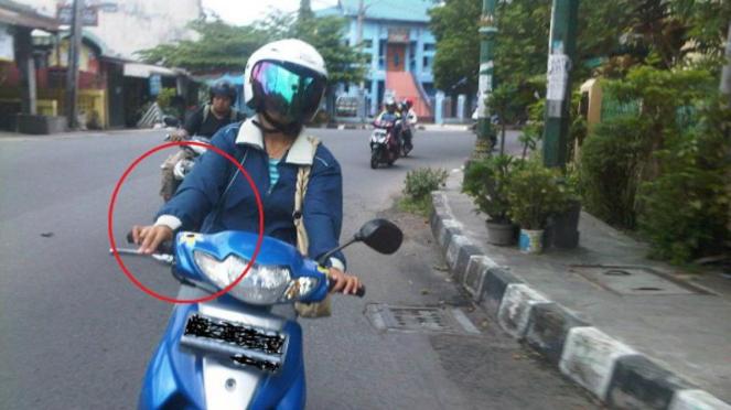 Motor tanpa spion
