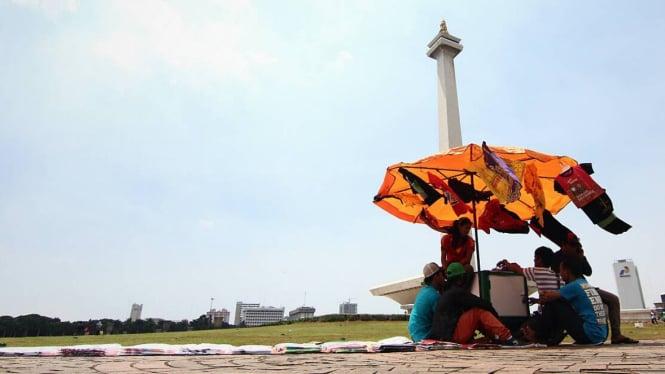 Cuaca di Jakarta beberapa waktu lalu.