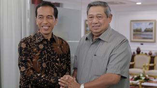 Pertemuan Jokowi dan SBY.