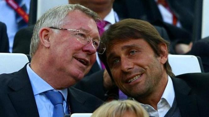 Sir Alex Ferguson dan Antonio Conte