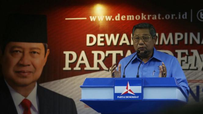 Ketua Umum Partai Demokrat Susilo Bambang Yudhoyono (SBY )