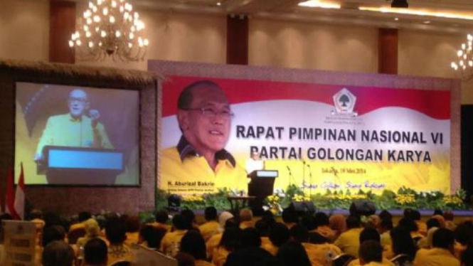 Suasana Rapimnas VI Partai Golkar. (18/05/14)
