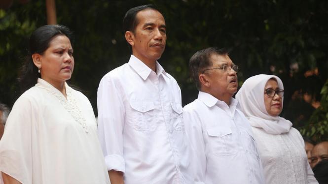 Deklarasi Joko Widodo (Jokowi ) dan Jusuf Kalla (JK).
