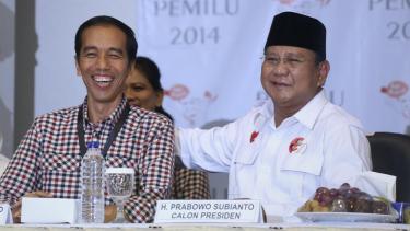 Suasana pengambilan Nomor Urut Calon Presiden dan Wakil Presiden Pemilu 2014.