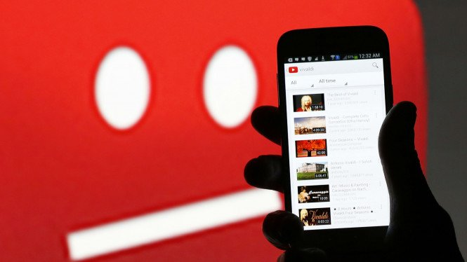 Layanan video streaming di YouTube.