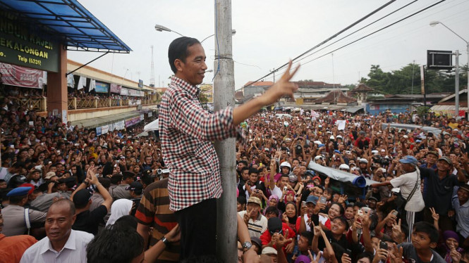 Jokowi Kampanye di Pekalongan